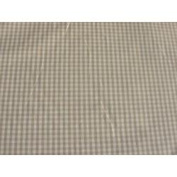 Rouleau Tissu | Coton neuf Vichy Petits carreaux Beige lin | l 142 cm | Au mètre A la coupe | Campagne