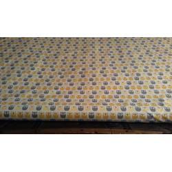 Rouleau Tissu | Coton Crétonne neuf Hiboux Jaune Gris | L 160 cm Au mètre A la coupe | Enfance Naissance