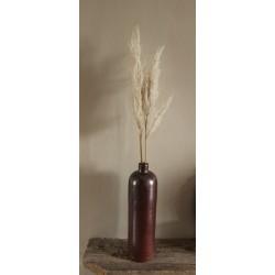 Grande Bouteille à liqueur Grès Vintage marron