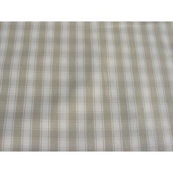 Rouleau Tissu | Coton neuf Carreaux Beige lin | Rouleau l 142 cm | Au mètre A la coupe | Campagne