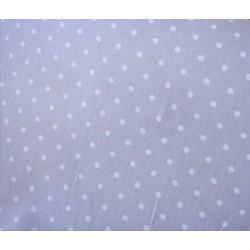 Tissu gris Pois blanc Coton crétonne neuf | Rouleau L 160 cm A la coupe